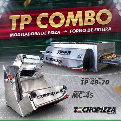 Forno de Esteira TP 48-70 + Modeladora de Pizza MC-45