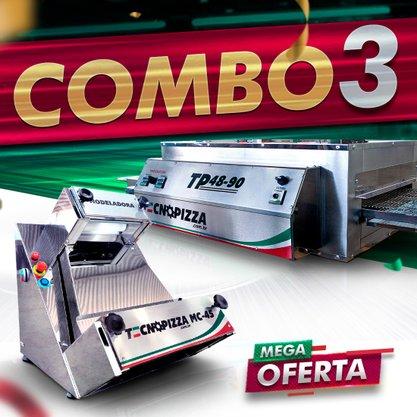 Forno de Esteira TP 48-90 + Modeladora de Pizza MC 45