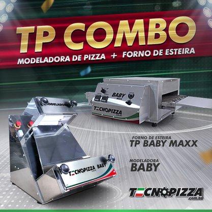 Forno de Esteira TP Baby Maxx + Modeladora de Pizza Baby