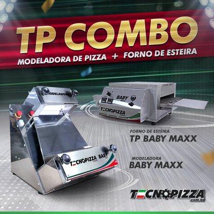 Forno de Esteira TP Baby + Modeladora de Pizza Baby Maxx